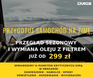przygotowanie samochodu na zimę Caros Service Wrocław