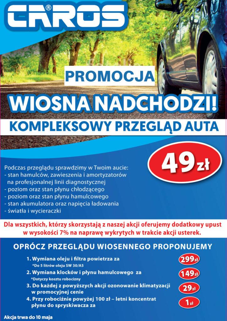 Caros serwis Wrocław_akcja wiosna 49zł przegląd